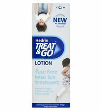 Adults & Children HEAD LICE Treat & Go Lotion 50ml HEDRIN - No Pesticides- Nits