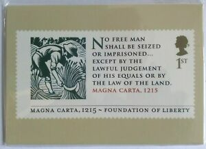 Royal Mail PHQ Cards 402 Magna Carta (2015) - 6 cards. Sealed.