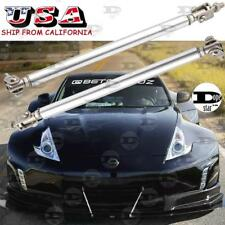Silver Adjustable Bumper Lip Splitter Rod Strut Tie Bar Support For Nissan Ford