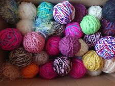 400g Job Lot Bag fancy Yarn Wool Balls Mixed Oddments Knitting Crochet Crafts