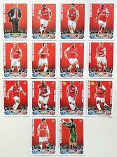 Arsenal 14 Cards Topps Match Attax 2011-2012 Black Backs