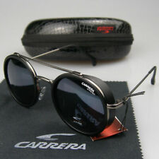 New Men Women Retro Sunglasses Round Windproof Matte Frame Metal Carrera Glasse