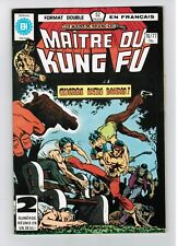 FRENCH COMIC FRANÇAIS EDITION HERITAGE CANADA  MASTER MAITRE KUNG FU  # 76 / 77