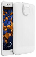 mumbi Leder Etui für Huawei P10 lite Hülle Ledertasche Case weiss
