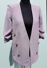RIVER ISLAND LAVENDER SPLIT BACK RUCHED SLEEVE MILITARY JACKET SIZES 8-10-12-14