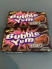 Collectible Rare Bubble Yum Hersheys Chocolate Flavor. 2 PACKS