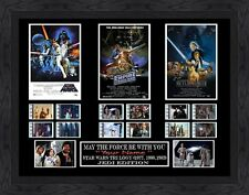 CUSTOM Signed - Star Wars Trilogy film cell (1977,1980,1983) Filmcell,  Engraved