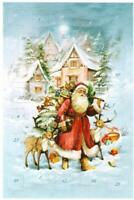 Advent Calendar Card SANTA REINDEER PRESENTS Christmas Weihnacht Germany