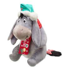 "Disney Store  EEYORE Holiday Plush 12"" H Seated Christmas 2018 Adorable - NWT"