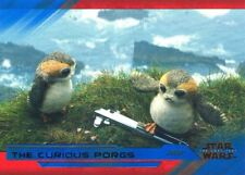 Star Wars Last Jedi S2 Blue Base Card #15 The Curious Porgs