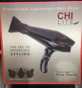 CHI farouk Lite Carbon Fiber Professional Lightweight Hair Dryer Rotating Nozzle