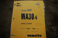 KOMATSU AVANCE WA30-5 Front End Wheel Loader Service Repair Manual book shop OEM