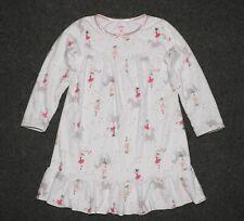 Girls size 4T Carters Long Sleeve Ballerina Horses Polka Dots Fleece Nightgown