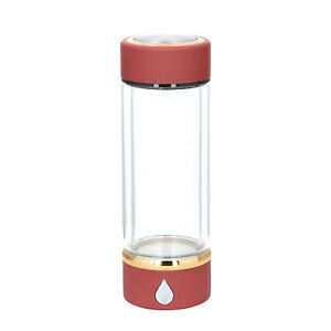 Wine Red SPE Hydrogen Water Generator Transparent Bottle with Portable USB