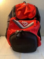Louisville Slugger 2 Bat Red Black Softball / Baseball Bag Backpack W/ Hanger