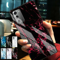 Marble Glass Case Cover For Samsung Galaxy S20 FE 5G Note 20 Ultra S20 Plus