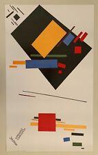MALEVIC,'SUPREMATIST COMPOSITION ' RARE 1990 ART PRINT