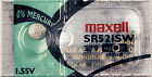 2PC Maxell SR521SW 379 15mAh 1.55V Silver Oxide Button Cell, ships from Canada