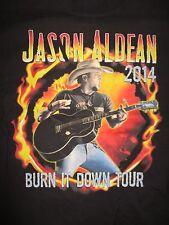 """2014 Jason Aldean """"Burn It Down"""" Concert Tour (Lg) T-Shirt"""