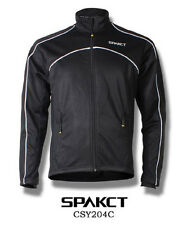 Spakct Fleece Thermal Jersey Cycling Jacket Black Large Sun Protective CSY204C