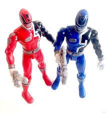 Power Rangers SPD espacio policía Rojo y Azul Figuras Con Armas