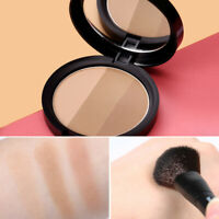 3 Colors Highlighter Powder Palette Matte Contouring Face Bronzer Makeup Charm