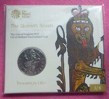 2017 León bestias de la reina de Inglaterra £ 5 BU moneda Pack