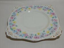 Vintage Art Deco Plant Tuscan China Floral Sandwich Plate Reg No 780986 1930's