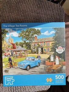 Village Tea Rooms, vintage car 500 Piece Jigsaw Puzzle, Toys & Games, used