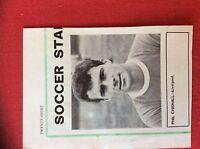m2M ephemera 1966 football picture liverpool phil chisnall