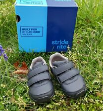 New Stride Rite SR Monte Black Shoes Boy Toddlers Size 6 M