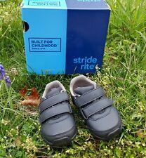 New Stride Rite SR Monte Black Shoes Boy Toddlers Size 5.5 M