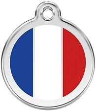 Red Dingo Médaille pour Chien Motif Drapeau Français 20 mm
