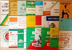 Australia Tour Rugby Programmes 1947 - 2009