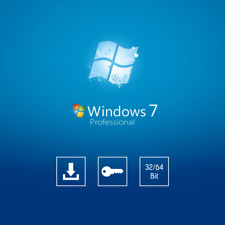 Microsoft Windows 7 Pro 32 or 64 BIT OEM Genuine License Key Product Code COA