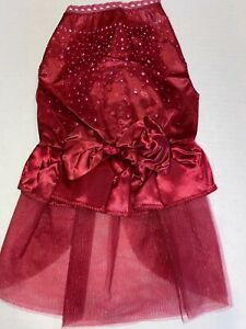 M RUBY RED PARTY Dress NEW! Small Dog Average GORGEOUS!