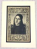 1927 Antico Stampa Lorenzo Di Credi Autoritratto Italiano Vecchio Master Pittura
