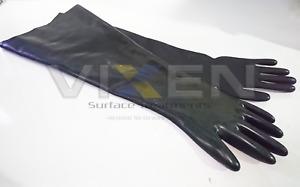 """NEW Vixen 24"""" Rubber Gauntlets/ Gloves (Jetair (VM)/Fox) - SS002"""