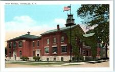 Waterloo, New York Ny High School c1920s Postcard