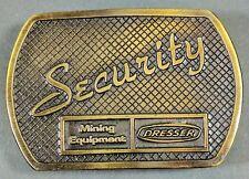 **NEW** Dresser Mining Equipment ~ Security Solid Brass Belt Buckle