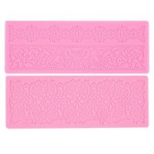 Lace Silicone Fondant Embossing Mold Cake Gum Paste Decorating DIY Mould LE