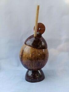 Coconut Shell Salt Container Ceylon Organic Handmade Eco Friendly Natural Bowl
