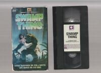 SWAMP THING Horror VHS EMBASSY video Movie Gore Cult Slasher Sex WES CRAVEN DC T