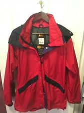 Gore-Tex Rain Jacket, Vintage REI , Red/Black, Mens Small, MADE IN USA