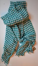 NWT J Crew Gingham Wool Cotton Blend Scarf