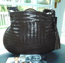 a51779d7b2 RALPH LAUREN COLLECTION BROWN WOVEN VACHETTA LEATHER HOBO BAG NWT ITALY   2500+