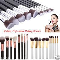 10PCS Kabuki Professional Makeup Brushes Cosmetic Blush Foundation Powder Brush
