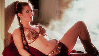 Star Wars Princess Leia, Jabba the Hutt Movie Poster Film Canvas Wall Art Print