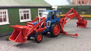Jcb Fordson Majeur Mk1 Pelle Excavatrice 1:76 Oo / 00 Oxford Hornby Bachmann