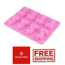 Willy Penis Silicone Ice Cube Tray Baking Jelly Mould Hen Night Party Chocolate